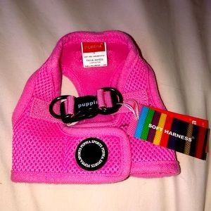 Pink dog harness brand new
